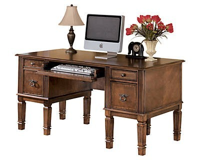 Hamlyn Home office storage leg desk ashley