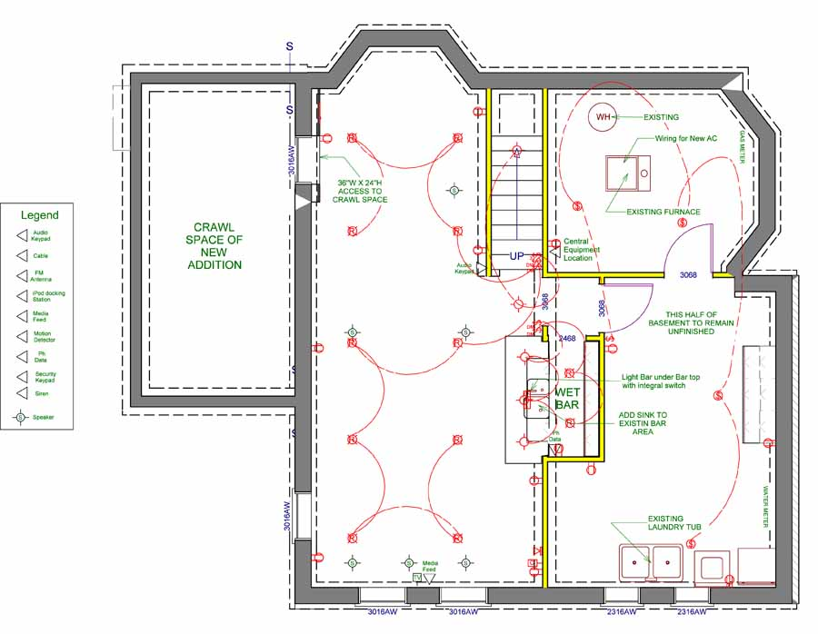 [SCHEMATICS_4LK]  Electrical Schematics   Electrical Plan Bedroom      Orfield Drafting Services