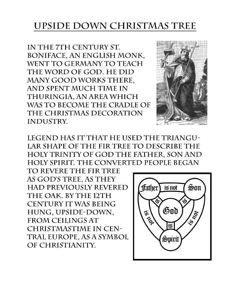 Upside Down Christmas Tree Origin.Nebraska Czechs Home Page