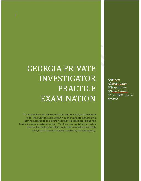 Purchase the Georgia Practice Examiantions