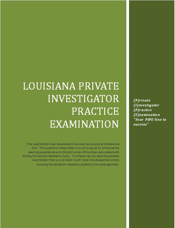 Purchase the Louisiana Practice Examination