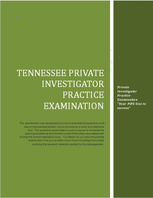Purchase the Tennessee Practice Examination