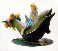 dolphin statue park sculpture