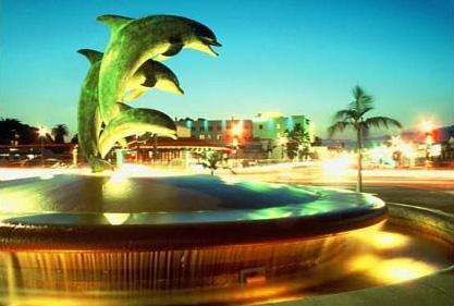 santa barbara dolphin fountain