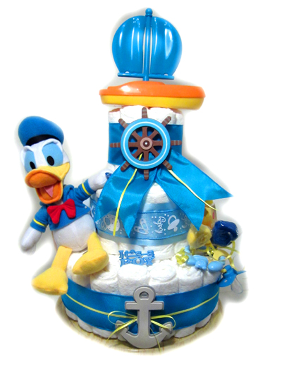 Donald Duck with Sailboat Diaper Cake