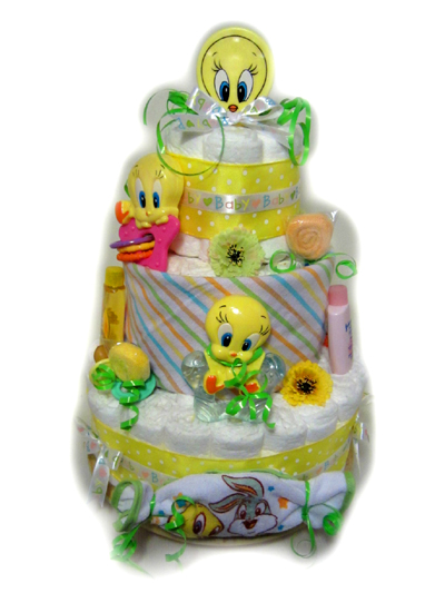 Looney Tunes Tweety Diaper Cake