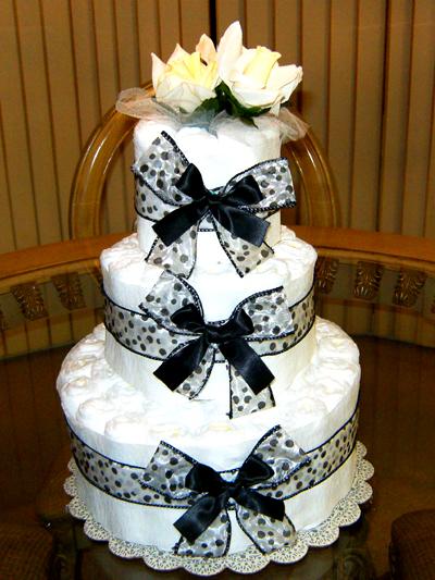 Polka Dots Diaper Cake