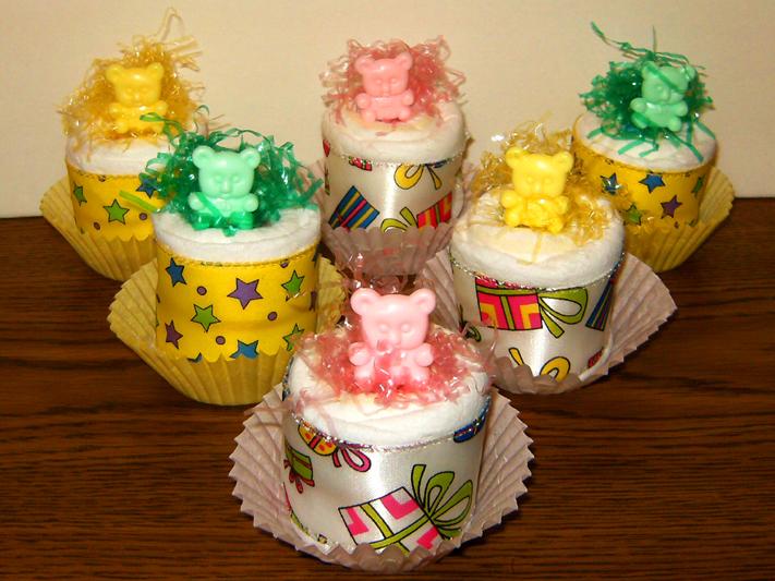 Baby Bear Diaper Cupcakes