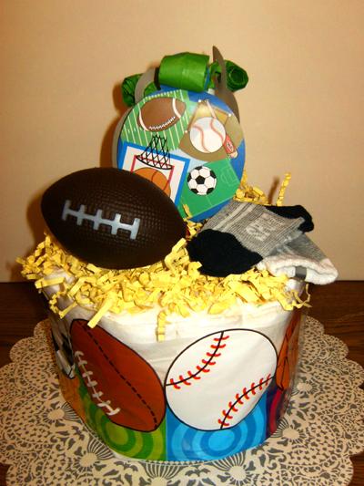 Sport Diaper Cake