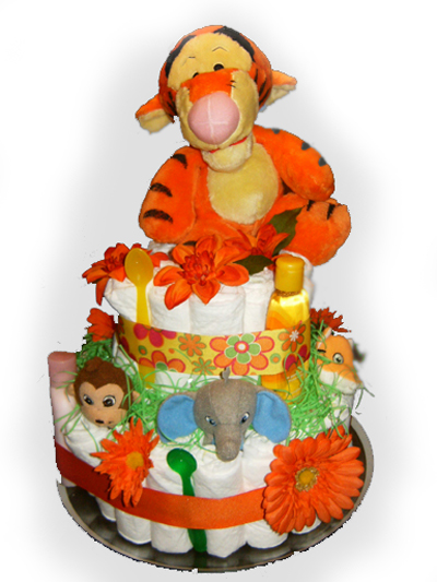 Disney's Tigger Diaper Cake