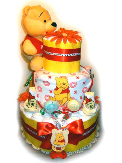 Disney's Winnie the Pooh Diaper Cake