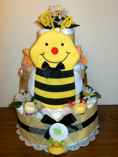 BEE-autiful Diaper Cake