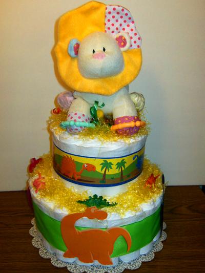 Baby Dinosaur Diaper Cake
