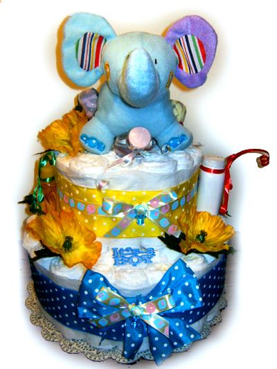 Elephand Diaper Cake
