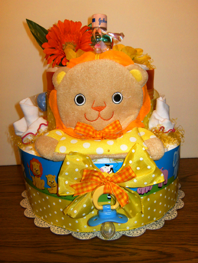 Little Lion Diaper Cake