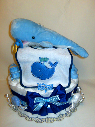 Baby Whale Diaper Cake