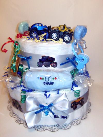 Monster Trucks Diaper Cake