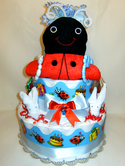 Lady Bug for a Boy Diaper Cake