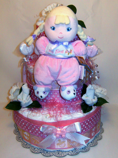 My First Doll Diaper Cake