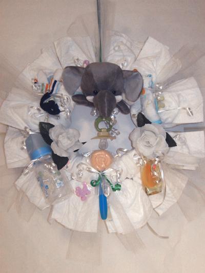 Baby Elephant Diaper Wreath