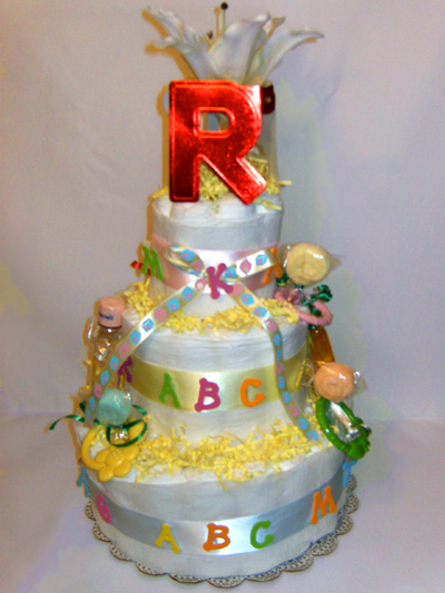 ABC Alphabet Diaper Cake