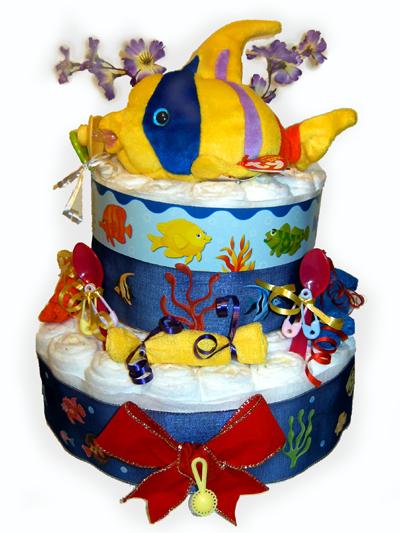 Pretty Fish Diaper Cake