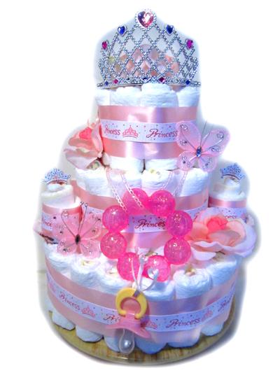 Pretty Princess Diaper Cake