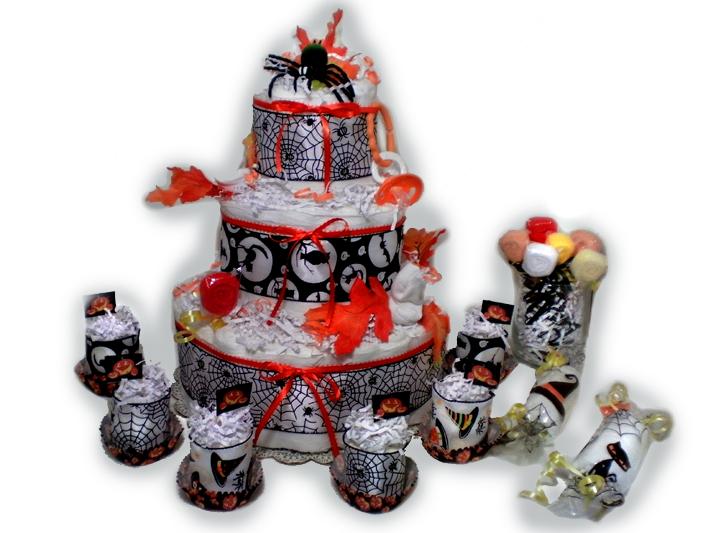 Halloween Spider Diaper Cakes Set