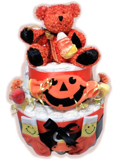 Halloween Bear Diaper cake