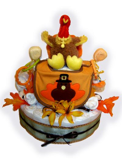 Thanksgiving Baby Diaper cake