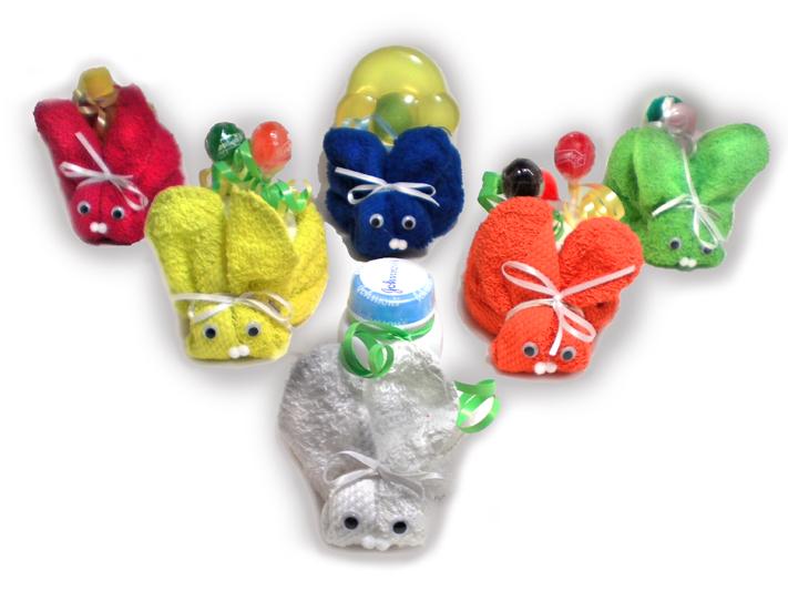 Rainbow Bunnies Mini Diaper Cakes