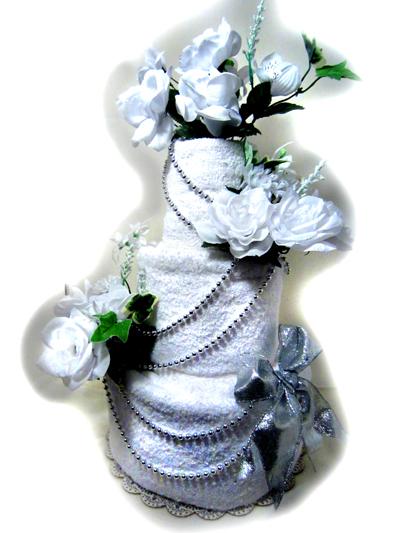 Lady Gaga Wedding Towel Cake
