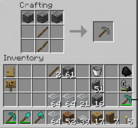 How To Make The Torch In Minecraft Crafting Table