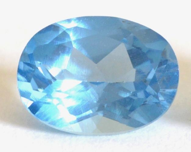 Ring With Light Blue Gem