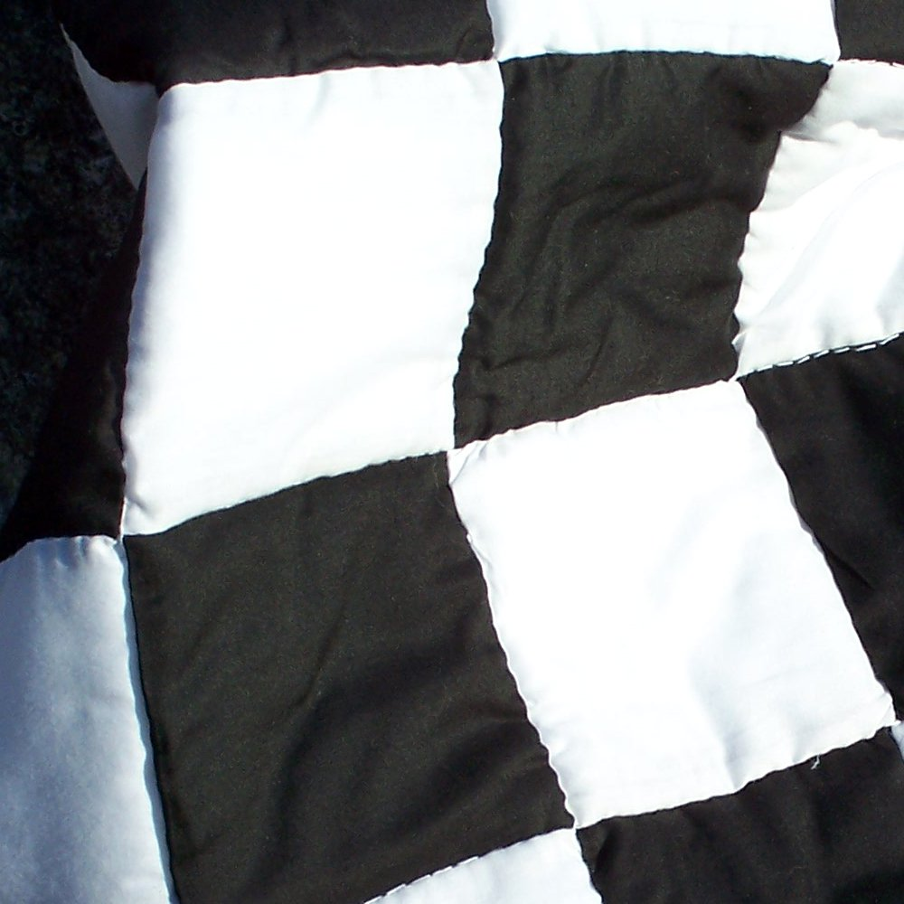 black and white domino quilt
