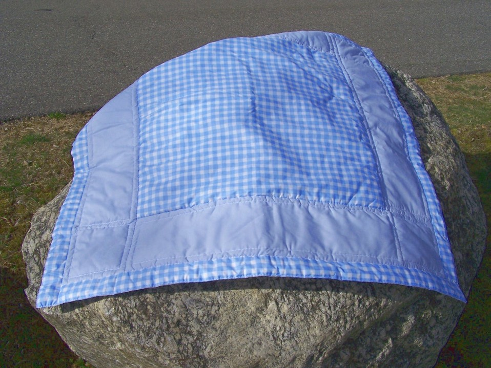 Blue Gingham Baby Quilt