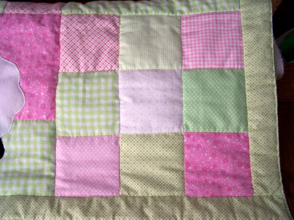 Pink and Green Patchwork