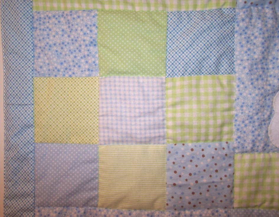 Blue and Green Patchwork