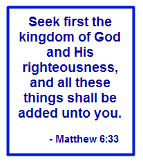 Seek first the kingdom...