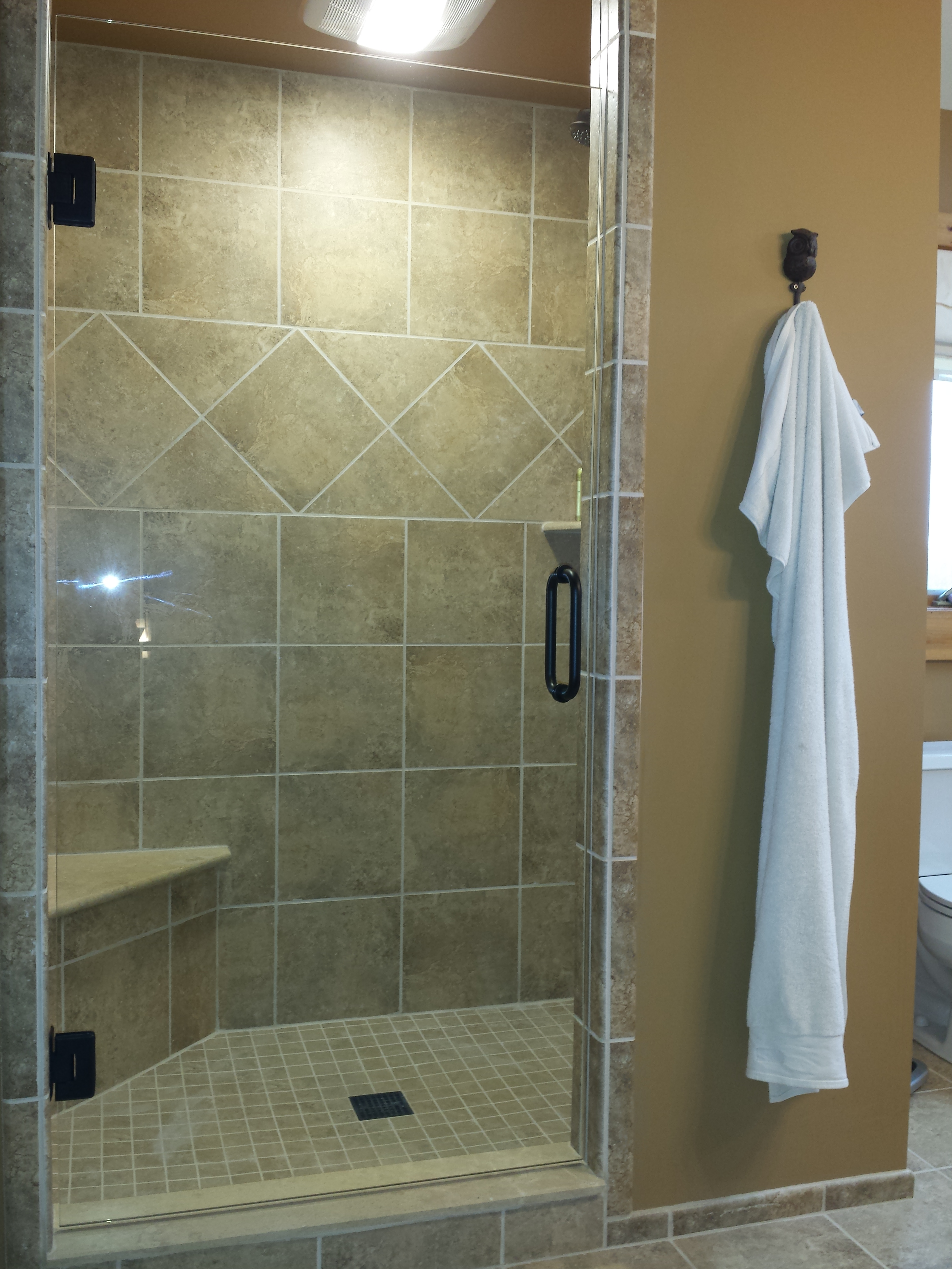 Single Euro Shower Door