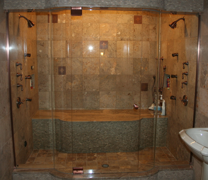 Frameless Shower Door, Steam Shower, Pivot Hinges, Euro Shower Doors, Shower Door Store, Shower Doors, GlassGuard, Novi, MI, South Lyon, Brighton, Northville, West Bloomfield