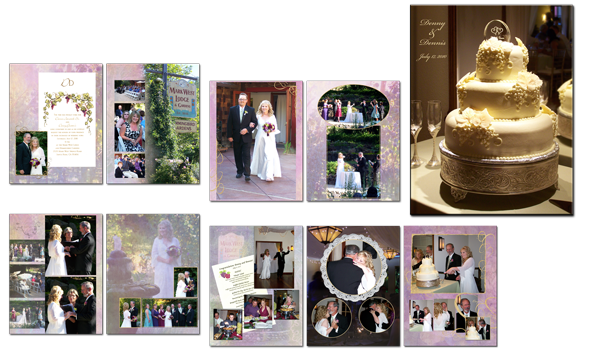 wine country wedding book
