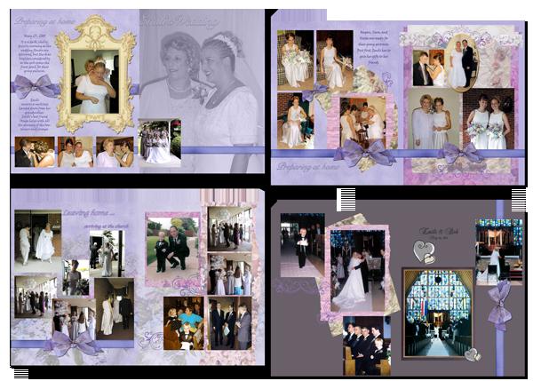 lavender bow wedding photo book