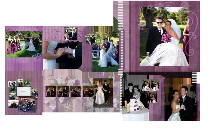 golf country club wedding photo book