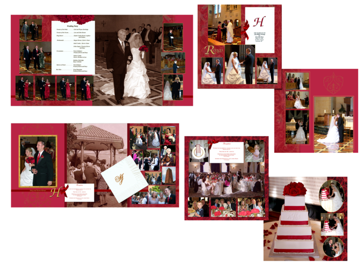 red roses wedding book