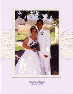 butterfly theme wedding photo book