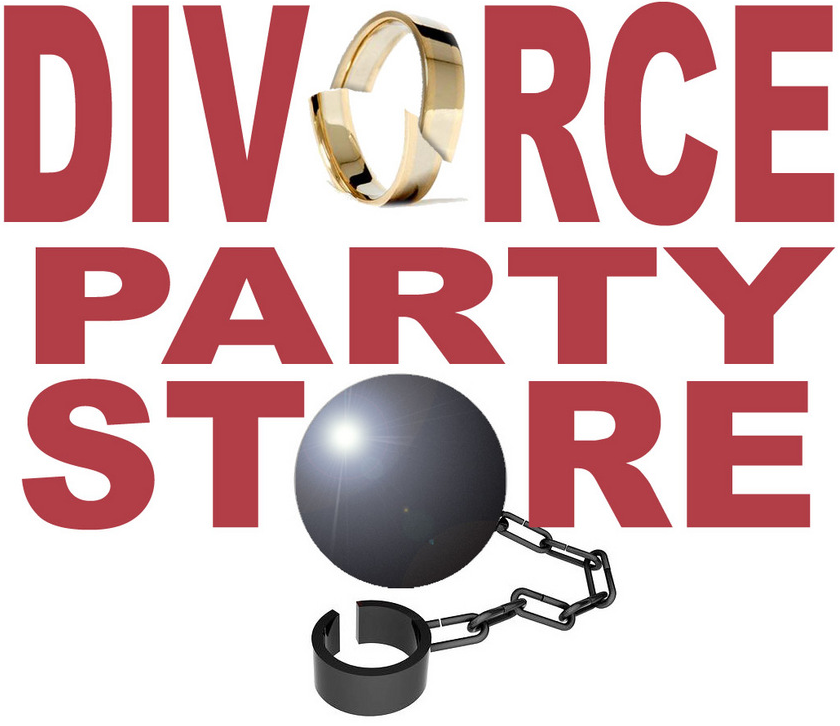 Amazon.com: Just Divorced Black Bold Letters Banner Sign ... |Divorce Party Themes