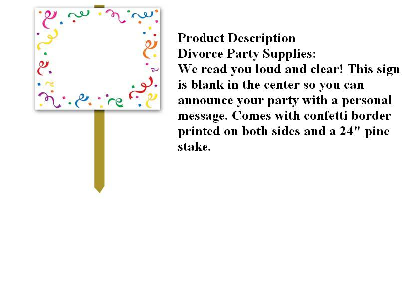 www.DivorcePartyStore.com-Party Supplies