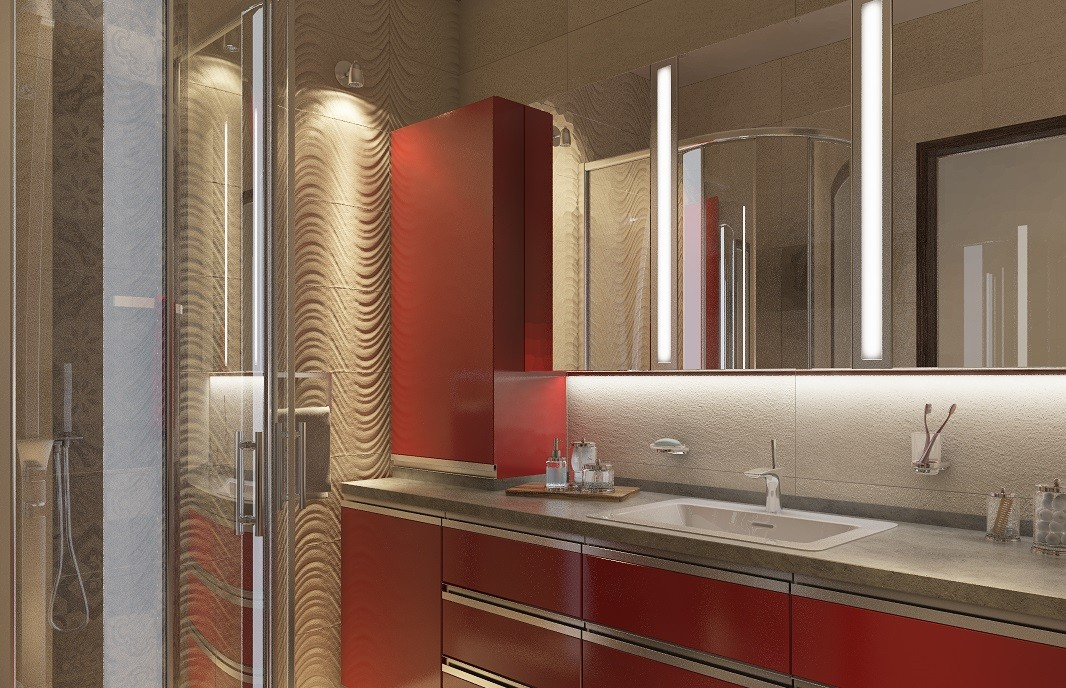 Дизайн интерьера ванной Golden Keys