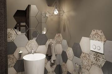 Дизайн гостевого санузла Хабаровск